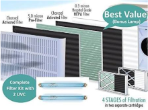 Replacement Filter, 2 UV Light Bulb Set for Sun-Pure SP-20C, Trio